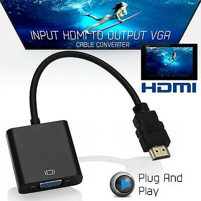 HDMI to VGA M2M 15 Pin 1080P 6FT Video Adapter Cable For HDTV DVD BOX Computers
