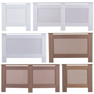 Small/Medium/Large Radiator Cover/Cabinet Wood Unfinished/White Diamond Grill