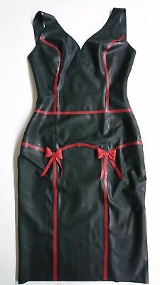 Latex Kleid, Pin up, Latex Dress, Rubber, Gummi, schwarz, rot, Damen, sexy,Retro