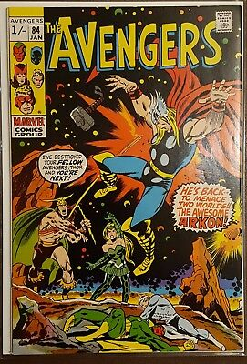 AVENGERS # 84, (1st SERIES / JANUARY 1971 / VFN/VFN- / Pence Copy) SCARCE