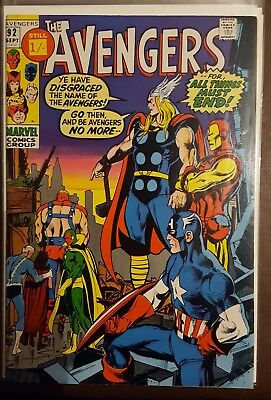 AVENGERS # 92 , (1st SERIES / SEPTEMBER 1971 / VFN- / Pence Copy)