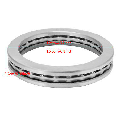 51124 120x155x25mm Axial Ball Thrust Bearing Set(2 Steel Races + 1 Cage) Durable