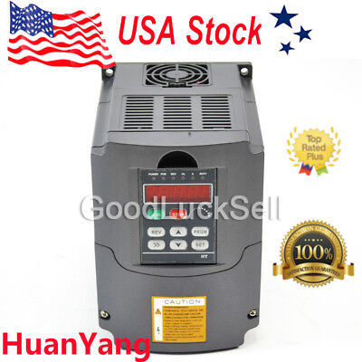 New Universal 5.5KW 220V Variable Frequency Drive Inverter VFD 7.6HP 25A