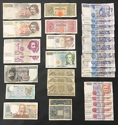 31 Mixed Italian Banknote Collection - Italy - Europe - Bulk Lot. (1434)