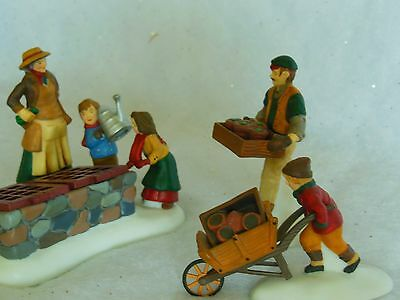 Dept. 56 Tending The Cold Frame, Dickens Village Accessory set of 3, Item #58416
