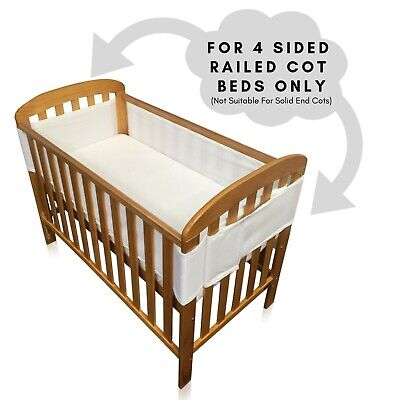 New Breathe Easy Air Mesh Nursery Breathable Cot Bed And Crib Liner Bumper Set
