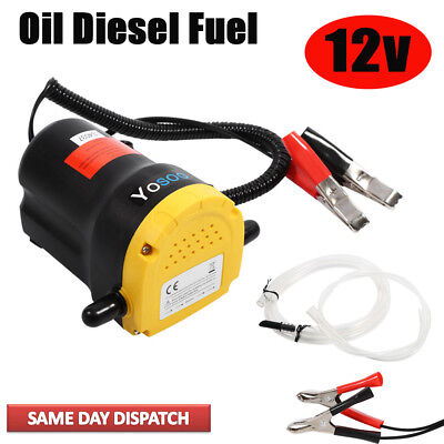 Universal 12V Fluid Extractor Oil Diesel Fuel Transfer Pump Siphon Car Motorbike