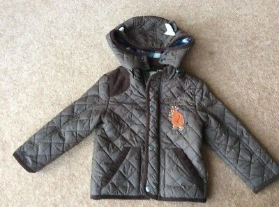 Gruffalo Boys Coat 18-24 Months Age 1.5-2 Years Lovely Condition Detachable Hood