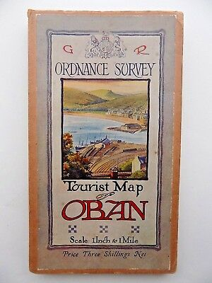1920 Oban Ordnance Survey Tourist Map Arthur Palmer Illustrated Cover Scotland