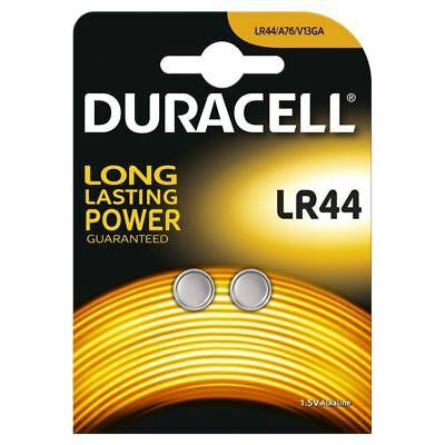 2 x Duracell LR44 1.5V Alkaline Button cell Batteries LR44 A76 AG13 357 SR44