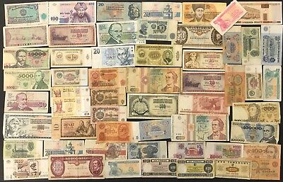 56 Mixed Russia & Soviet Banknote Collection - Bulk Lot.  (1440)