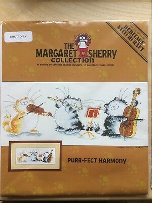 Purr-fect Harmony cross stitch pattern - musical cats (Kreuzstichmuster)