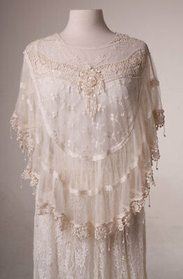 Victorian Lace Wedding Cape