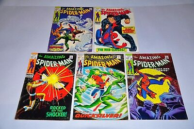 Amazing Spider-Man 70 71 72 73 74 Silver Age Lot