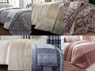 Catherine Lansfield Bedspreads Vintage Floral Bright Warm Bed Throws