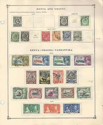 Kenya KUT Collection 1921 to 1963 on 8 Scott International Pages