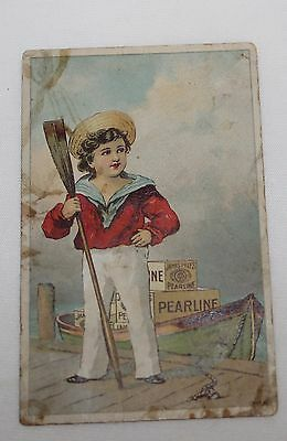 Ad Trade Card Pearline Laundry Home Cleaning Soap James Pyle  New York