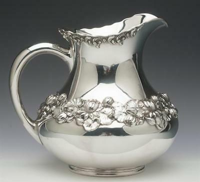 Ornate Sterling Silver Water Pitcher by Gorham Silver Company