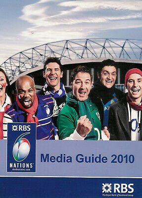 RBS Six Nations 2010 Official RUGBY MEDIA GUIDE ITALY FRANCE WALES ENGLAND etc