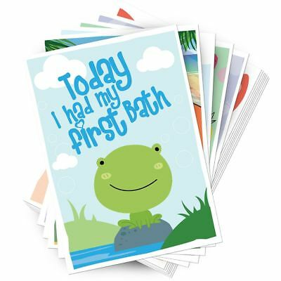 My First Memory Cards Babies 1st Year Memorable Moments Milestone Baby Shower