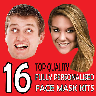 16 Personalised Custom Face Mask Kits Send A Pic & We Give All You Need To Diy