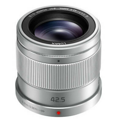 Panasonic Lumix G 42.5mm f/1.7 ASPH. POWER O.I.S. Lens (Silver) BRAND NEW