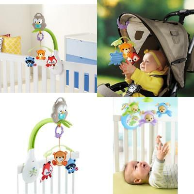 3-in-1 Musical Mobile Crib Fisher-Price Woodland Friends Lullaby Music for Baby