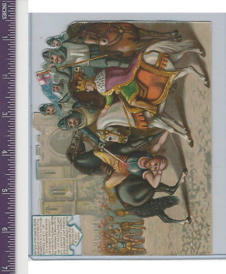 Victorian Diecuts, 1890's, Soldiers, Wat Tyler & King Richard (94)