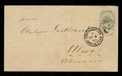 Rep. Argentina Ganzsache - 1889 Buenos Aires nach Ulm - Ship-Letter Stempel
