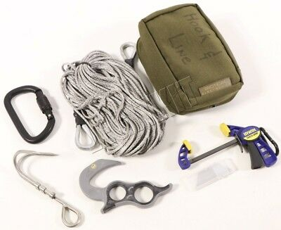 Tactical Electronics Remote In-Extremis Pull Line Kit w/ MOLLE Pouch Navy E0D
