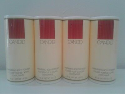 Lot of 4 Sealed AVON CANDID Shimmering Body Powder. Powders Size: 1.4 oz each.