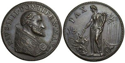 M- Rome, Pius IV, AE Medal 1562, The Peace in France, M548