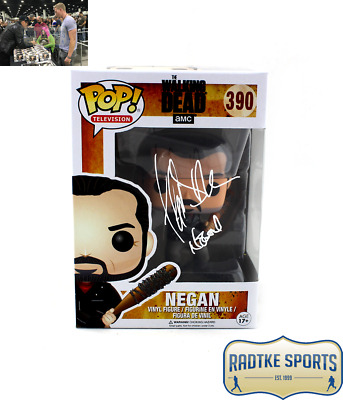 Jeffrey Dean Morgan Autographed/Signed The Walking Dead Funko Pop! Negan #390