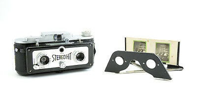 STEREO-HIT CAMERA with BOX & VIEWER c1955 by Tougoudo - A VERY RARE FIND