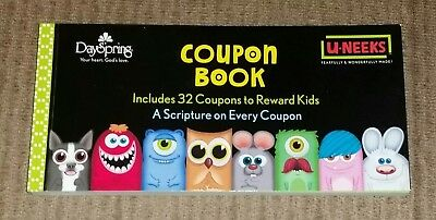 Coupon Book to Reward Kids, Scripture Verse on Each Coupon by DaySpring U-NEEKS