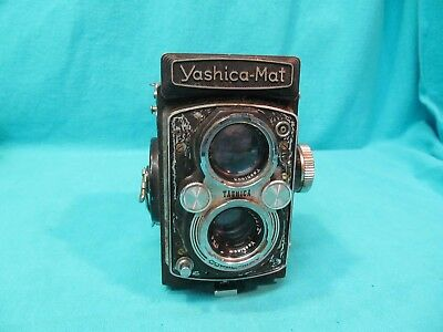 VINTAGE YASHICA-MAT TLR CAMERA YASHINON 80mm f3.5  AS IS PARTS