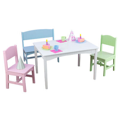 KIDKRAFT NANTUCKET Kids 4 Piece Table and Chair Set - $117.98 | PicClick
