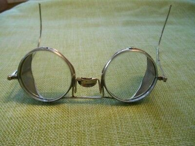 Authentic Willson Antique Steampunk Aviator Motorcycle Safety Driving Glasses