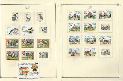 Laos Collection 1977 to 1988 on Scott International Pages, Over 50 Pages