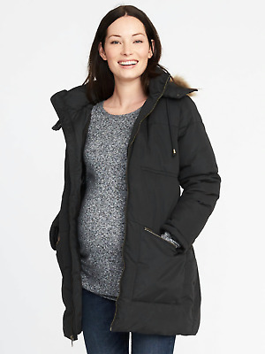 Old Navy Womens 849532 Maternity Hooded Frost Free Parka Coat Jacket Nwts S M L