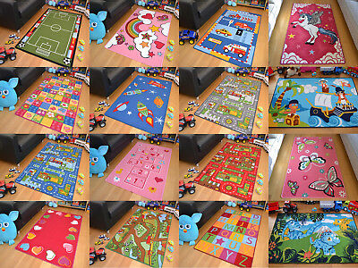 New Childrens Large Girls Boys Bedside Play School Floor Mats Kids Fun Rug Cheap