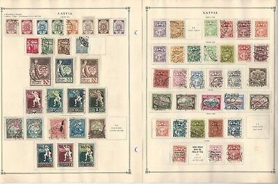 Latvia Collection 1918-1940 on 5 Scott International Pages