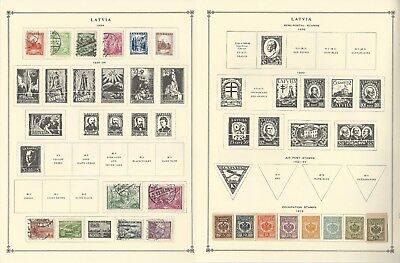 Latvia Collection 1918-1993 on 18 Scott International Pages