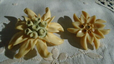 Edelweiss - 2 broches anciennes