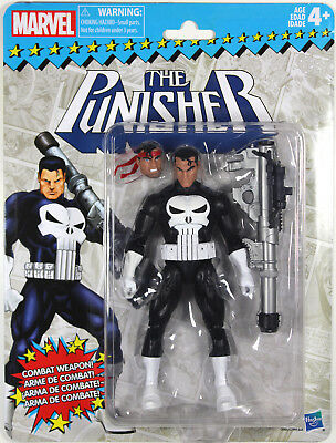 Marvel Legends Vintage Series ~ PUNISHER ACTION FIGURE ~ Hasbro Superheroes