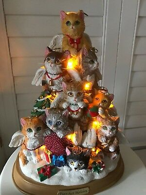 Christmas Tree Cat Illuminated Purr-Fect Holiday By The Bradford Exchange 2009