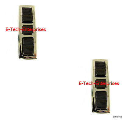 Front Left & Right Door Window Switch Double with Lock Out Button for Mercedes