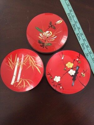 """3-Oriental-lacquer-display-plates-6"""""""