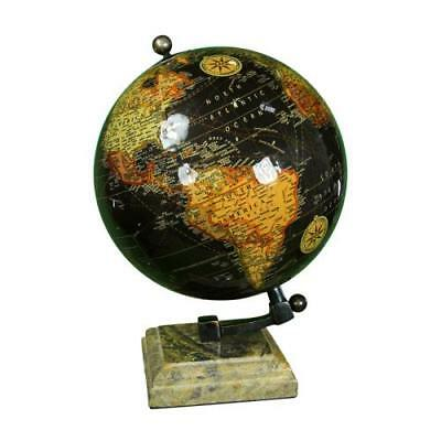 "Globe With Marble Base 10.25"" H ~ Vintage Globe ~ Globe With Metal Stand ~ Maps"