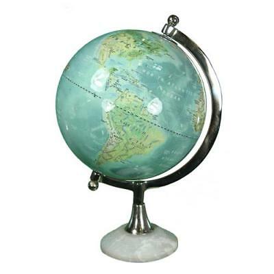 "Globe With Marble Base 12.5"" ~ Vintage Globe ~ Globe With Brass Stand ~ Maps"